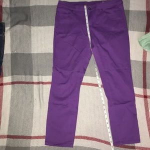Chor Purple skinny leggings size 9